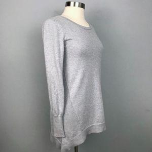 Athleta Tunic Sweater Asymmetrical Hem Rib Trim M